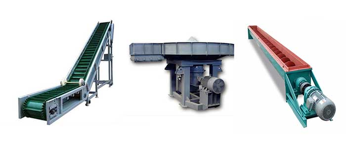 Feeders and conveyors used in mini cement plants.