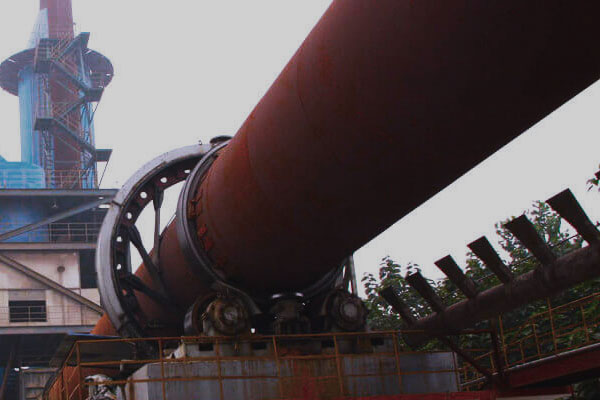 The rotary kiln for cement clinker calcining.