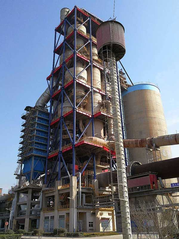 cyclone preheater in a portland cement plant.