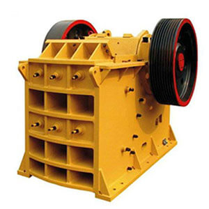 Jaw crusher for cement raw material preparation.