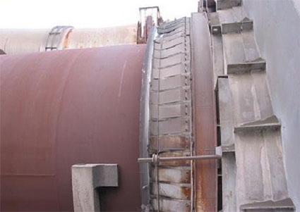 Rotary cement kiln seal.