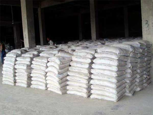 the packed product cement ready to sell