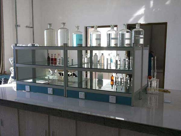 the laboratory for raw material proportioning of a cement plant.
