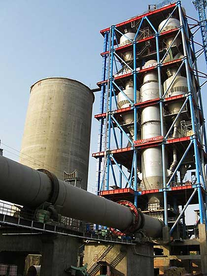 preheater for the new dry process of cement Manufacturing