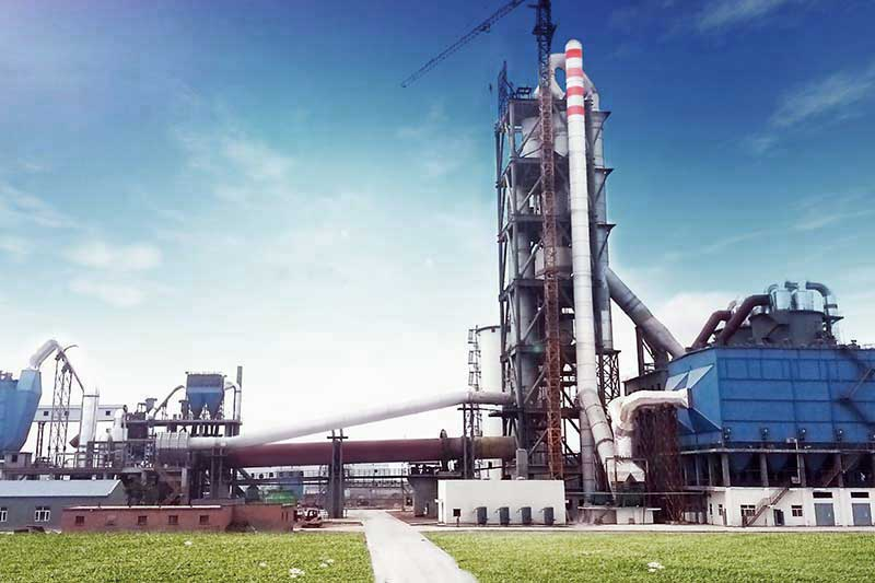 The cement plant for quick setting cement production