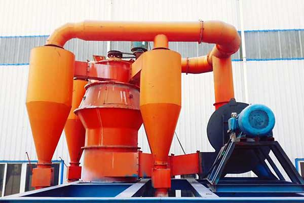 A cyclone air separator for cement milling system.