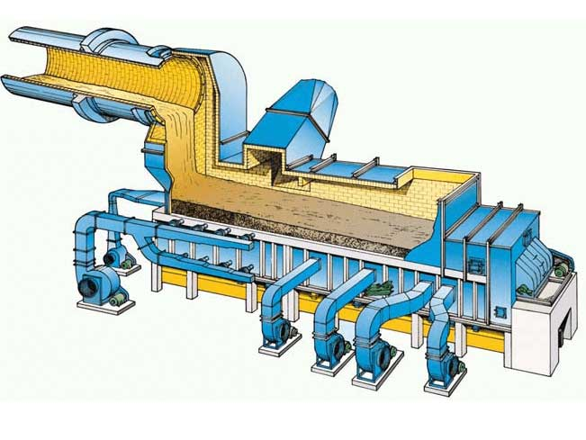 grate clinker cooler structure drawing