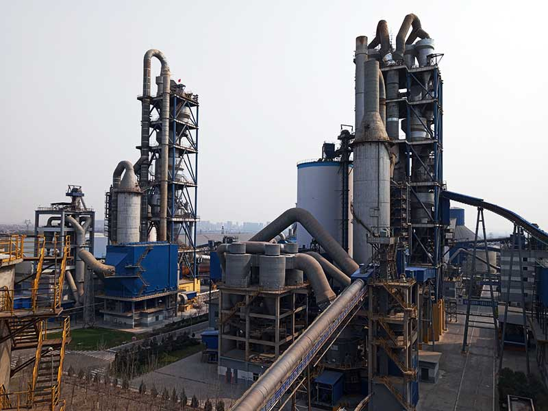 a cement manufacturing factory