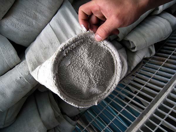 filter bag ashes